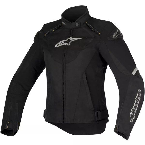 Jaqueta Alpinestars Stella T-Jaws Preta/Cinza -  100% Impermeável   - Planet Bike Shop Moto Acessórios