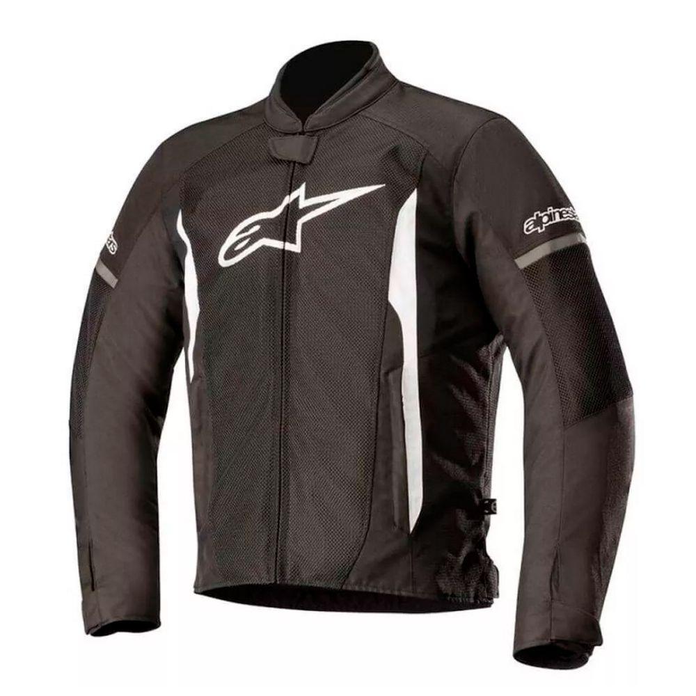 Jaqueta Alpinestars T-faster Air Preta/branca  - Planet Bike Shop Moto Acessórios