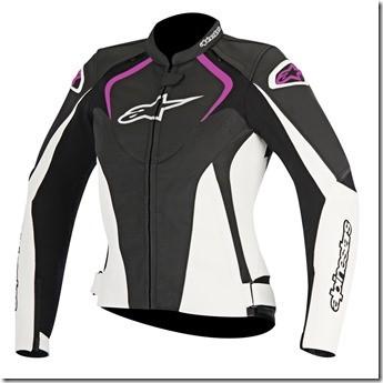 Jaqueta Alpinestars Jaws  (Preta/ Branca/ Rosa) Couro  - Planet Bike Shop Moto Acessórios