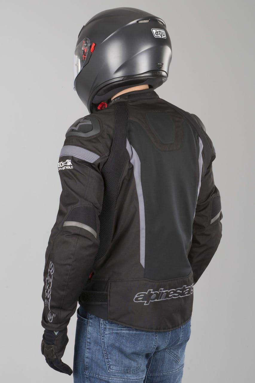 JAQUETA ALPINESTARS T-MISSILE AIR TECH - PRETO e CINZA impermeável  - Planet Bike Shop Moto Acessórios