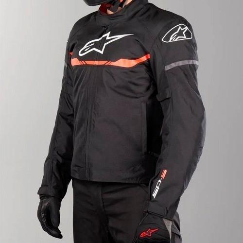 JAQUETA ALPINESTARS T-SP S WP - IMPERMEÁVEL - PRETO/VERMELHO  - Planet Bike Shop Moto Acessórios
