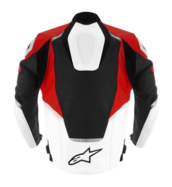 Jaqueta Apinestars Jaws Couro (Preta, Branca e Vermelha)  - Planet Bike Shop Moto Acessórios