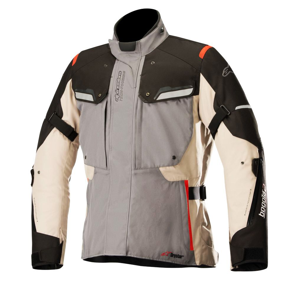Jaqueta Alpinestars Bogota V2 Drystar® (Cinza / Areia / Preto) LANÇAMENTO!!!  - Planet Bike Shop Moto Acessórios