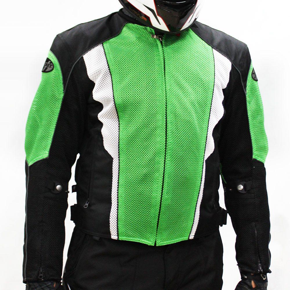 0 Jaqueta Joe Rocket Phoenix 2.0 Verde Impermeável ventilada - Mês do Motociclista
