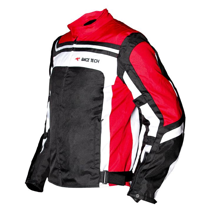 Jaqueta Race Tech Imola Black / Red / White (Oferta) (Só temos tamanho XL)  - Planet Bike Shop Moto Acessórios