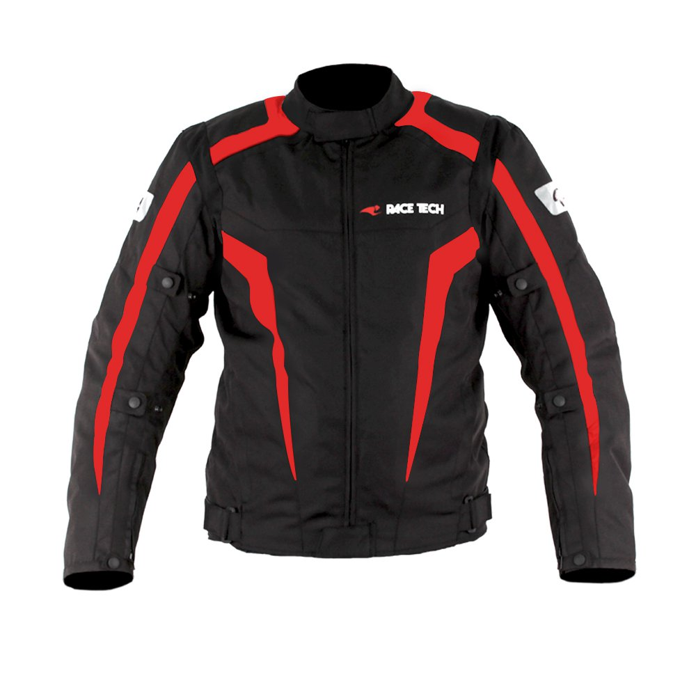 Jaqueta Race Tech Racer II Black/ Red  - Planet Bike Shop Moto Acessórios