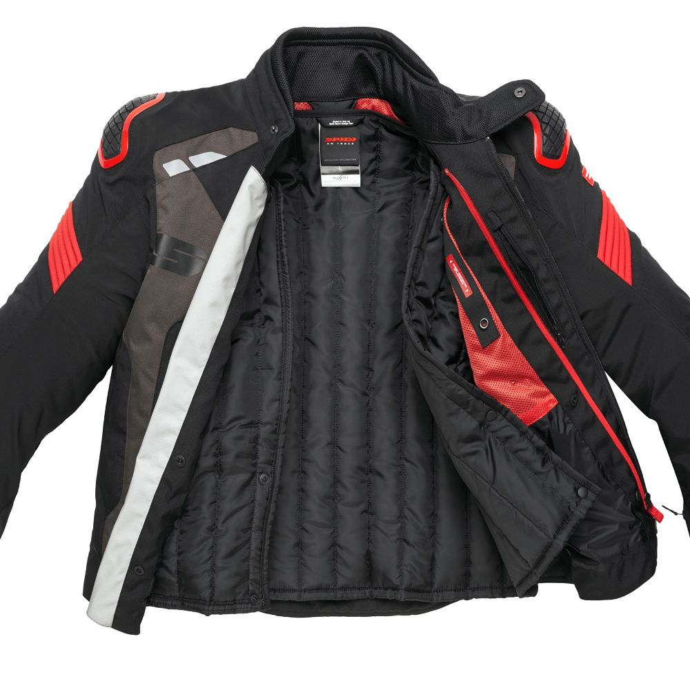 Jaqueta Spidi Warrior H2Out BLACK/RED - SuperOferta  - Planet Bike Shop Moto Acessórios