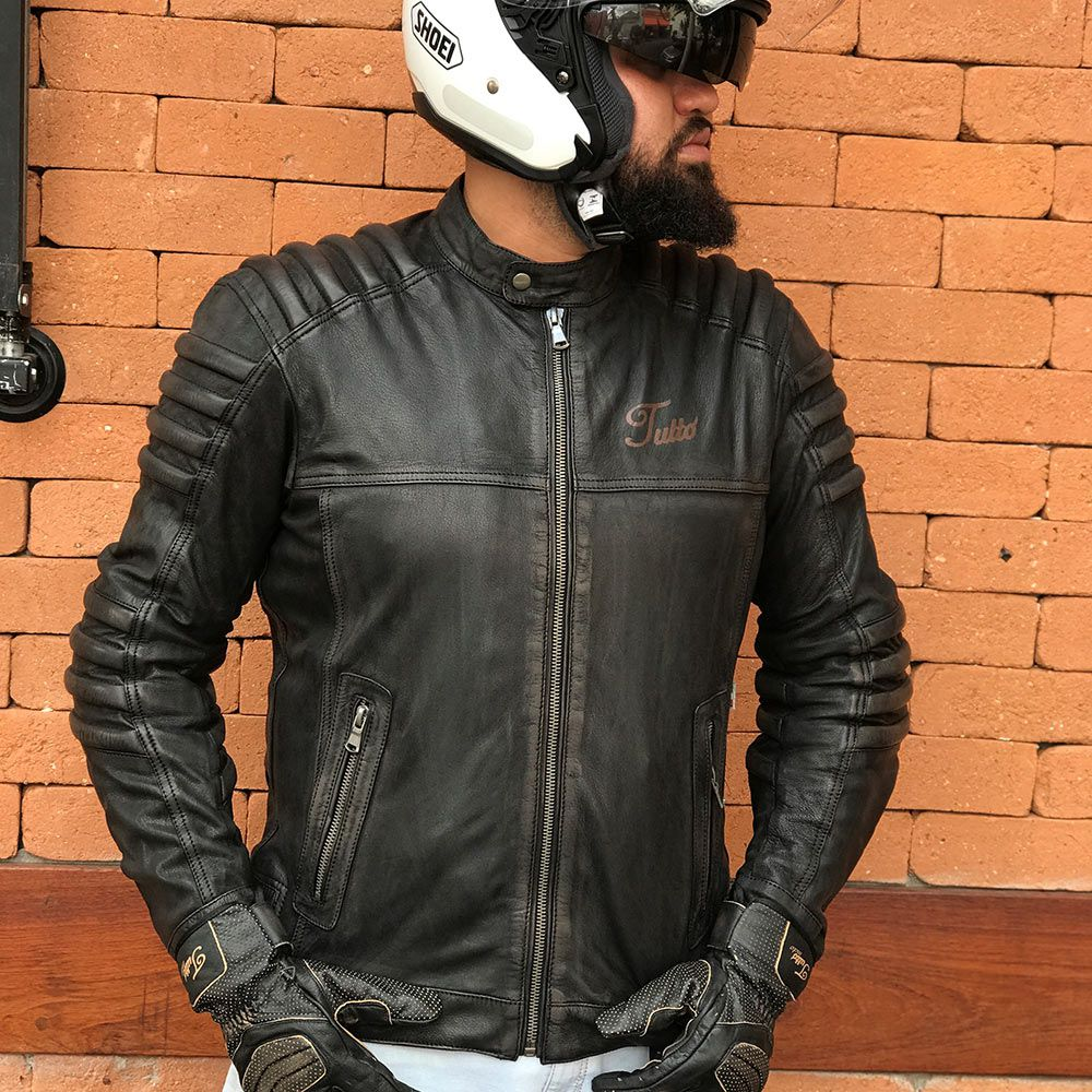 JAQUETA TUTTO MOTO MAD MAX EM COURO  - Planet Bike Shop Moto Acessórios