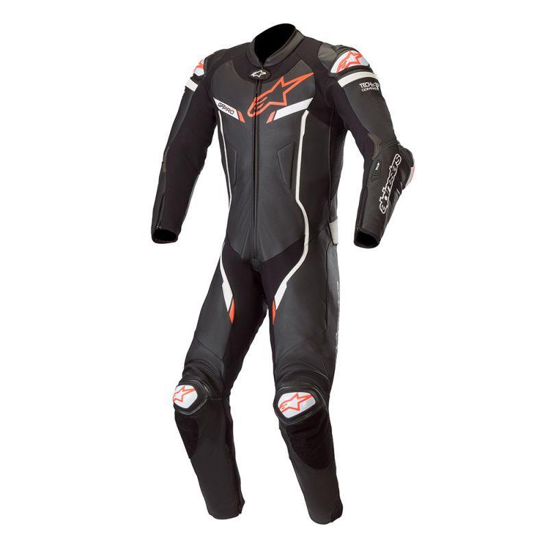 Macacão Alpinestars GP Pro V2 1 peça (Preto/Branco) LANÇAMENTO!!!  - Planet Bike Shop Moto Acessórios