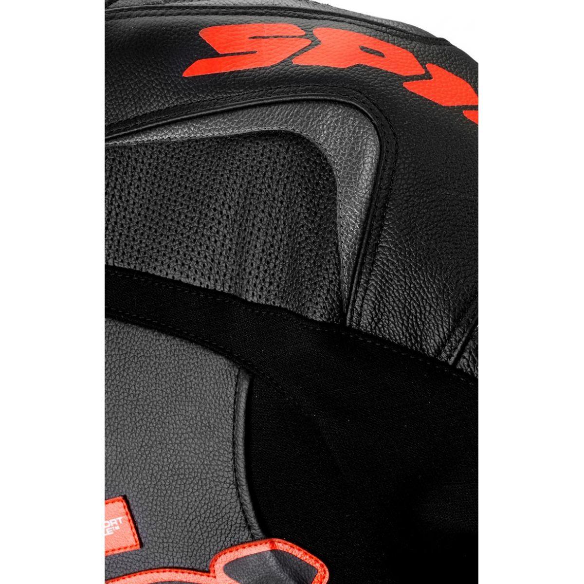 Macacão Spidi Super Sport Touring Preto c/ Vermelho 2pçs  - Planet Bike Shop Moto Acessórios
