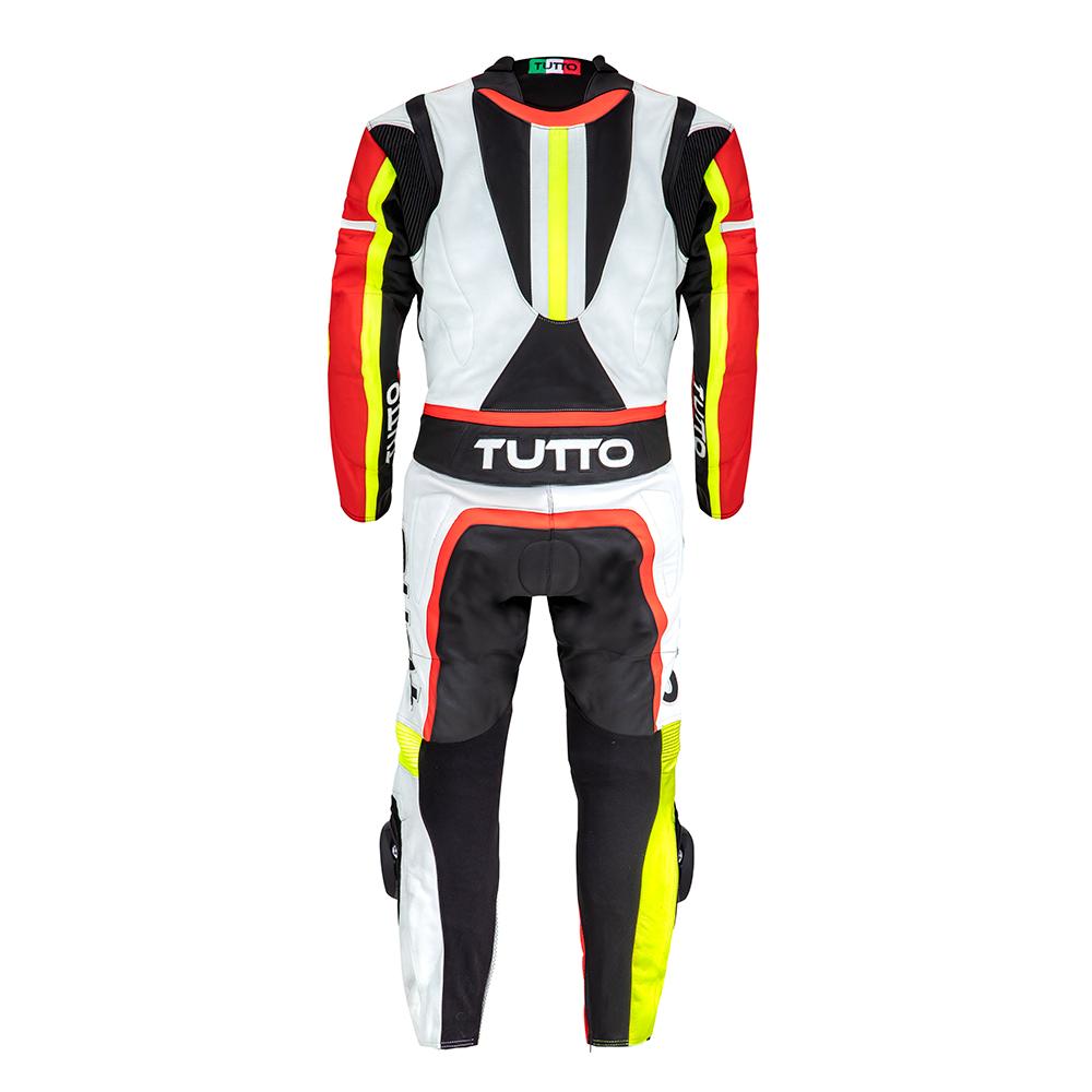 Macacão Tutto Moto Racing 2 pçs Preto/Vermelho/Amarelo - OFERTAÇO - Ganhe: Protetor de Coluna Tutto Combat  - Planet Bike Shop Moto Acessórios