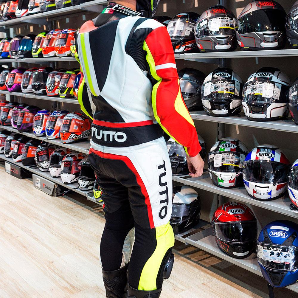 Macacão Tutto Moto Racing 2 pçs Vermelho/Amarelo  - Planet Bike Shop Moto Acessórios
