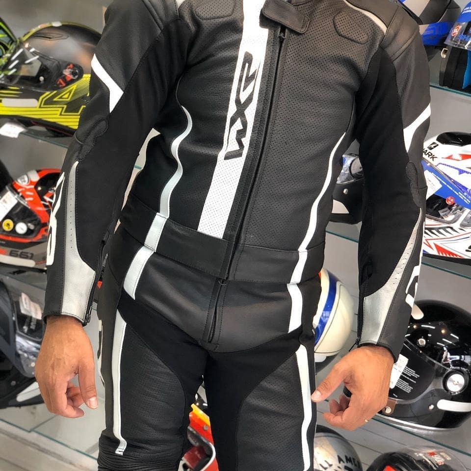 Macacão WXR 2 Peças Preto/Branco LANÇAMENTO!!!  - Planet Bike Shop Moto Acessórios