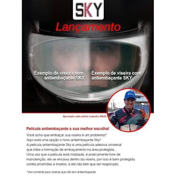 PELÍCULA ANTIEMBAÇANTE SKY UNIVERSAL  - Planet Bike Shop Moto Acessórios
