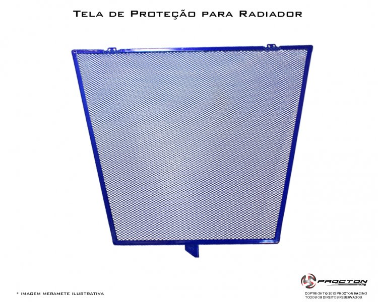 Protetor de Radiador Procton Kawasaki ZX6 - 10 / 12 LANÇAMENTO   - Planet Bike Shop Moto Acessórios
