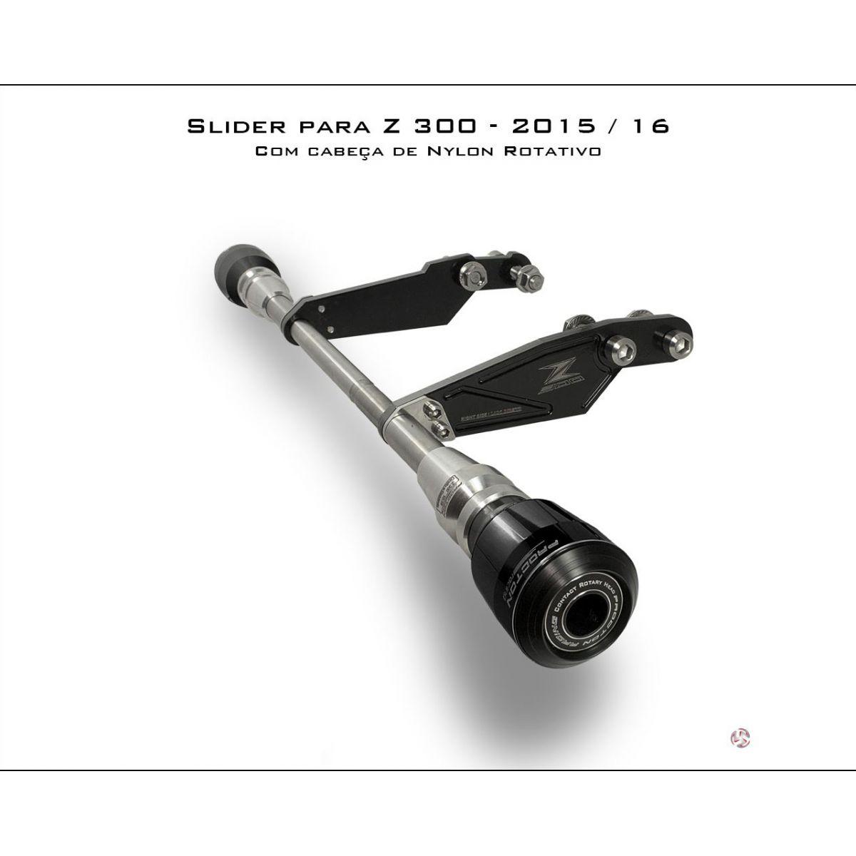 Slider Procton com Amortecimento Kawasaki Z300 15/16  - Planet Bike Shop Moto Acessórios