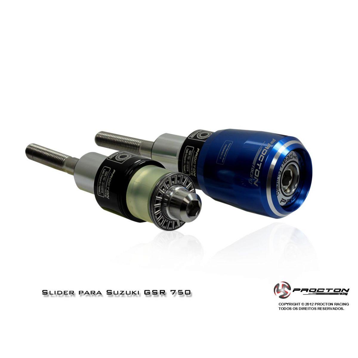 Slider Procton com Amortecimento Suzuki GSR750 - Naked - 13/16 (Roletado)