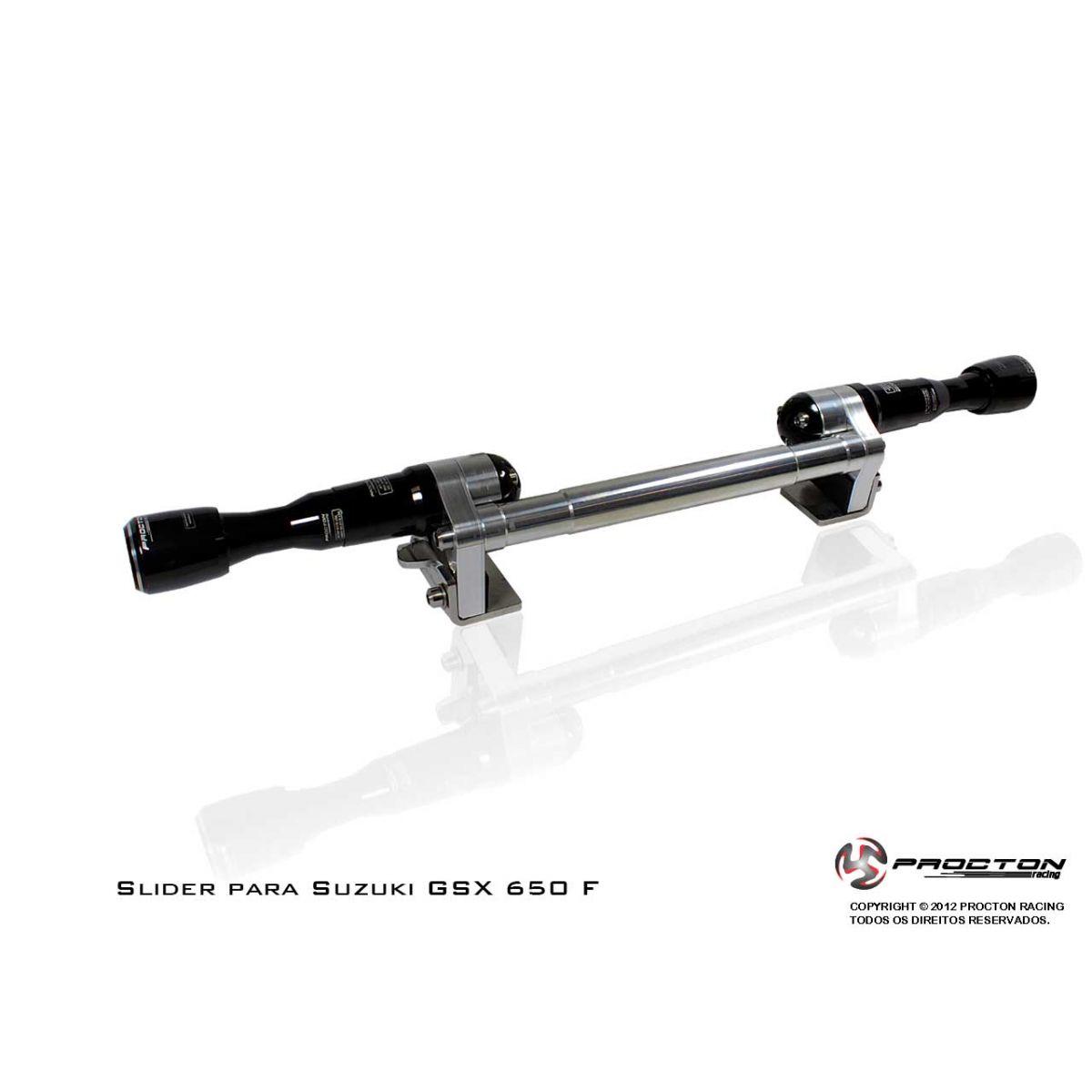Slider Procton com Amortecimento Suzuki GSX 650F - 09/15  - Planet Bike Shop Moto Acessórios