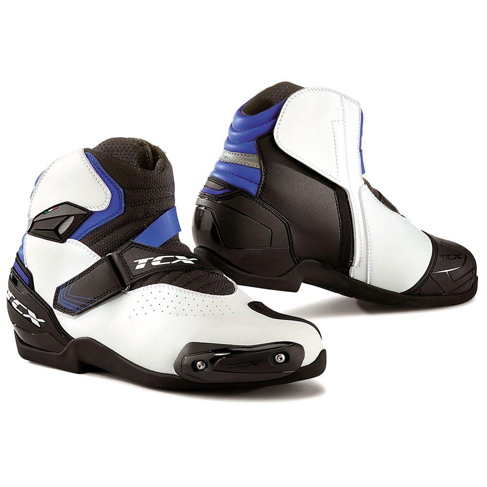 Tênis TCX Roadster 2 Air - Preto / Branco / Azul  - Planet Bike Shop Moto Acessórios