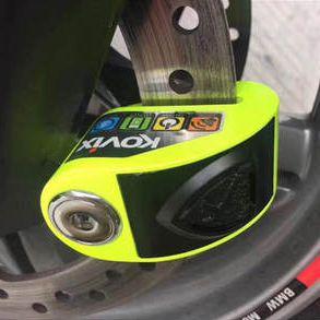 Trava de Disco com Alarme Kovix Aço Verde (KD6-FG)  - Planet Bike Shop Moto Acessórios