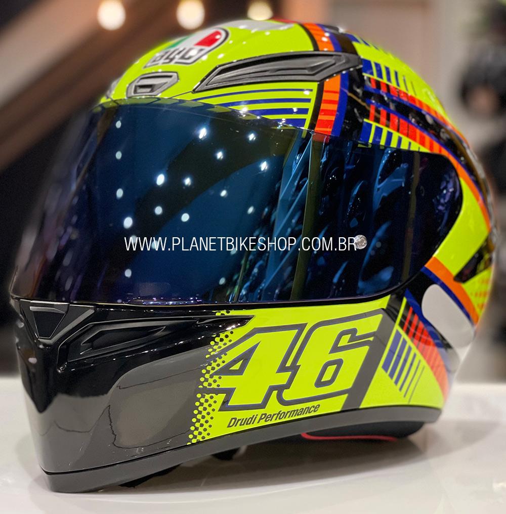 Viseira AGV Espelhada Azul para K-3 SV, K-1, Horizon, Numo Evo  - Planet Bike Shop Moto Acessórios