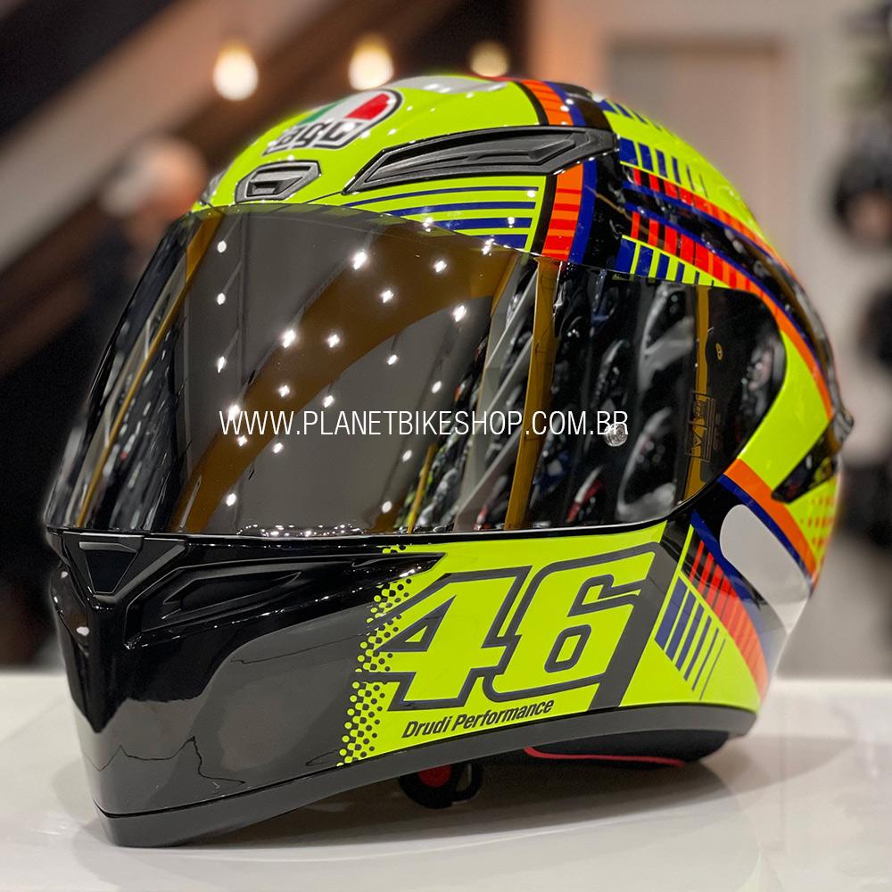 Viseira AGV Espelhada Prata para K-3 SV, K-1, Horizon, Numo Evo  - Planet Bike Shop Moto Acessórios
