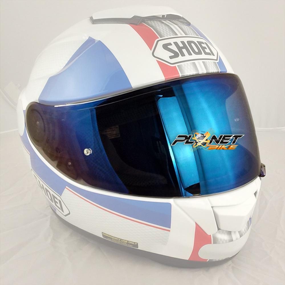 Viseira Shoei CNS-1 Azul Espelhada c/ Pino de Pinlock (GT-Air ou Neotec)  - Planet Bike Shop Moto Acessórios