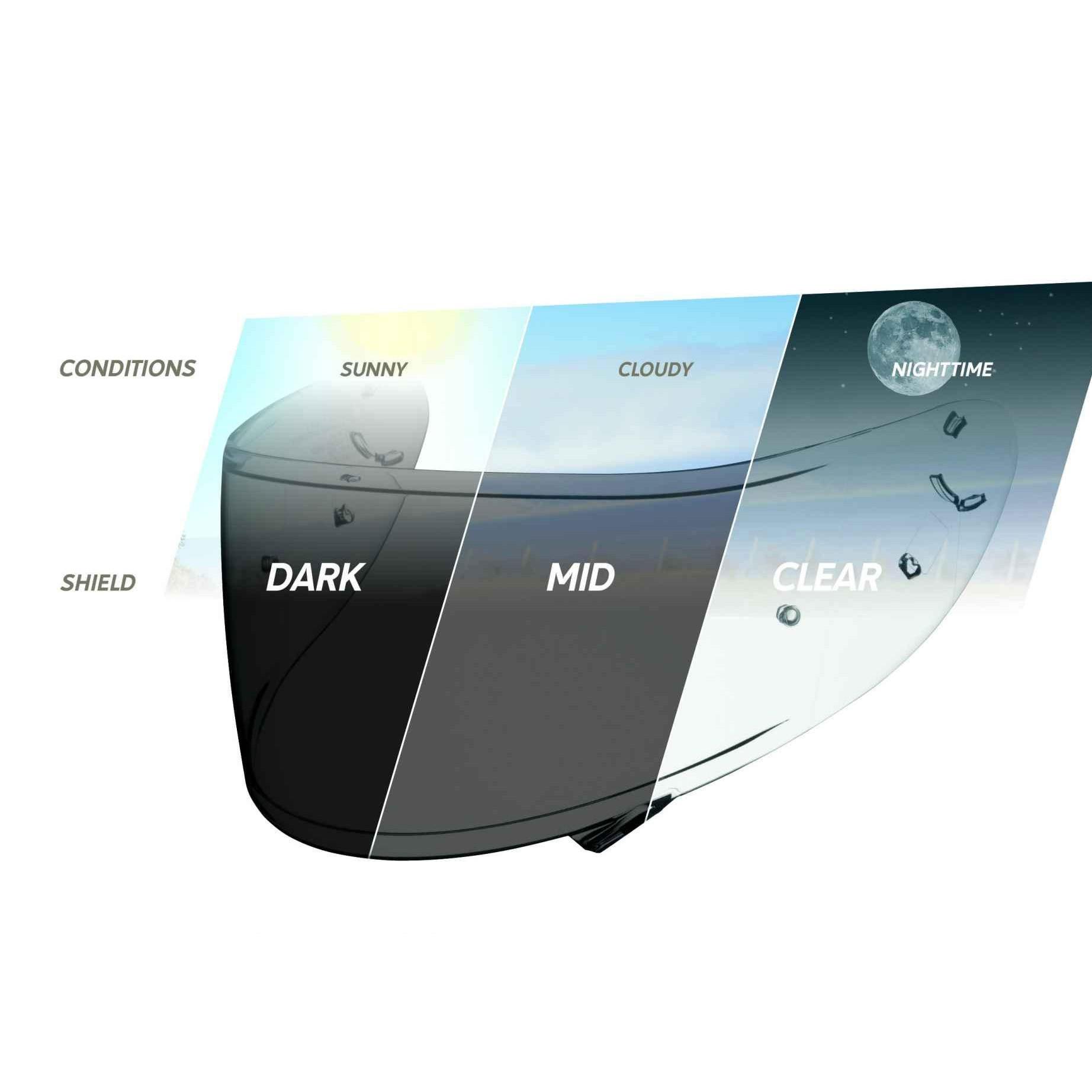 Viseira Shoei CWR-1 Transitions para NXR e X-Spirit lll  - Planet Bike Shop Moto Acessórios