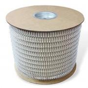 """Bobina Wire-o para Encadernação Branco 1"""" até 200 Folhas (Passo 2x1) - 4.500 anéis"""
