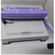 Encadernadora Perfuradora Fechadora Wire-o Passo 3x1 Conjugada e Espiral A4 Excentrix Espiralflex