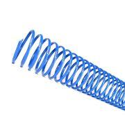 Espiral para Encadernação Azul 20mm até 120 Folhas - Pacote com 80 unidades