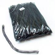 Espiral para Encadernação Preto 12mm até 70 Folhas - Pacote com 100 unidades