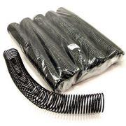 Espiral para Encadernação Preto 45mm até 400 Folhas - Pacote com 15 unidades