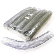 Espiral para Encadernação Transparente (Cristal) 45mm até 400 Folhas - Pacote com 15 unidades