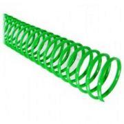 Espiral para Encadernação Verde 07mm até 25 Folhas - Pacote com 100 unidades