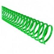 Espiral para Encadernação Verde 17mm até 100 Folhas - Pacote com 100 unidades