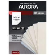 Polaseal Filme para Plastificação Aurora Oficio 226x340x0,05mm (125 micras) - Pacote com 100 unidades