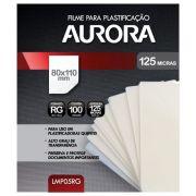 Polaseal Filme para Plastificação Aurora RG 80x110x0,05mm (125 micras) - Pacote com 100 unidades