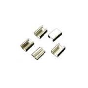 Fixador de Solda Dentado Para Cordão de Crachá 15mm - Pacote com 100 unidades