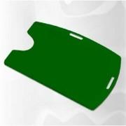 Kit 1000 Protetores Porta Crachá Rígido M3 Conjugado Verde