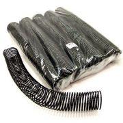 Kit 150 Espirais para Encadernação Preto 45mm até 400 Folhas