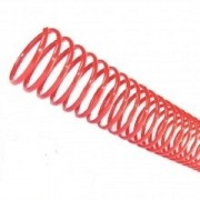 Kit 180 Espirais para Encadernação Vermelho 40mm até 350 Folhas