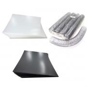 Kit 200 Capas e 12 Espirais Transparentes (Cristal) para Encadernação 50mm até 450 Folhas