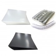 Kit 200 Capas e 15 Espirais Transparentes (Cristal) para Encadernação 45mm até 400 Folhas