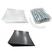 Kit 200 Capas e 60 Espirais Transparentes (Cristal) para Encadernação 23mm até 140 Folhas