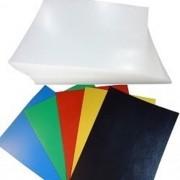 Kit 200 Capas para Encadernação A4 - 100 Cristal Line (Frente) e 100 Coloridas Couro (Fundo)
