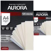 Kit 200 Plásticos Filme para Plastificação Aurora A4 e RG