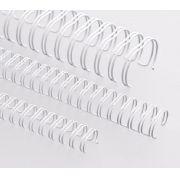 Kit 250 Garras Wire-o para Encadernação A4 Branco Passo 2x1 - 1 1/4, 1 1/8, 1, 7/8, 3/4 e 5/8