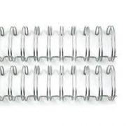 Kit 250 Garras Wire-o para Encadernação A4 Prata Passo 2x1