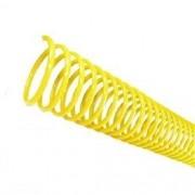 Kit 486 Espirais para Encadernação Amarelo 33mm até 250 Folhas